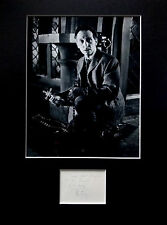 PETER CUSHING signed autograph PHOTO DISPLAY Hammer Horror