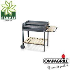 Barbecue a carbone con doppia griglia acciaio bbq grande 76 x 54 a carbonella