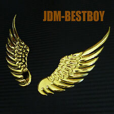 Chrome Gold Metal Made EAGLE WINGS Add on Rear Emblem 3D Car Motor Decal Sticker