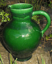 Fabulous Huge Vintage Green glaze Jug interior designers this one is for you