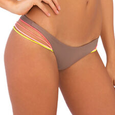 LULI FAMA UNSTOPABBLE MULTI COLORED STRINGS BUNS OUT BIKINI BOTTOM (S) L464555