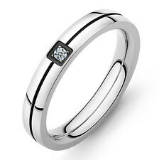 5MM MENS WOMEN titanium steel simple wedding engagement ring band size S