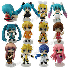12pc Lovely VOCALOID2 MIKU RUKA Len 6cm PVC Figure Set New No Box