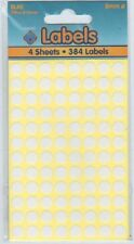 Round Sticky Dots Labels Stickers White - 8mm BL40