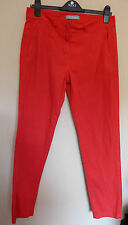 Marks & Spencer woman UK12 EU40 US8 bright red stretch trousers