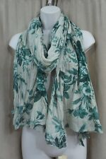 Denim & Supply By Ralph Lauren Shawl One Size Green Floral Print Cotton Wrap