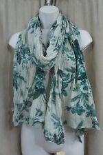 Denim & Supply By Ralph Lauren Shawl One Size Green Floral Print Cotton Wrap