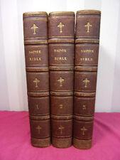 LA SAINTE BIBLE ( ancien testament )  Traduite par Le Maistre de Sacy 3 vols