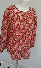 LOFT Ann Taylor top - size small ~ red and beige