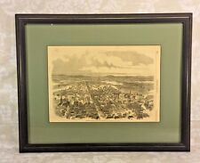 Framed September 27 1862 Harpers Weekly Illustration of Frederick City MD