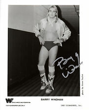 WWE SIGNED PHOTO BARRY WINDHAM 1985 BLACK & WHITE WRESTLING PROMO WWF STAR RARE