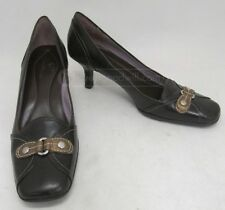 COLE HAAN CHOCOLATE BROWN LEATHER PUMPS SIZE 7AA