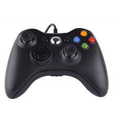 2x USB Wired Game Controller Gamepad For Microsoft Xbox 360 Slim PC Win10 B