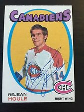 REJEAN HOULE SIGNED 1971-72 OPC HOCKEY CARD,Montreal Canadiens,WHA Nordiques
