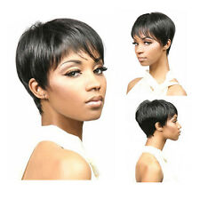 Fashion Cut Hairstyle Synthetic Short Hair Party Wigs for Africans Black Women
