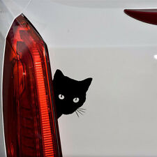 1x Black Cat Face Peering Motorcycle Car Stickers Graphics Decal Auto Decoration