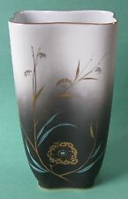 ROSENTHAL MUTZE Gold CHINESE CATTAIL Flowers Vintage Porcelain Asian Décor VASE