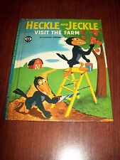 "1958 "" Heckle and Jeckle Visit the Farm "" CBS TV ~ Wonder Books"