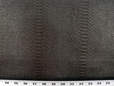 Vinyl Upholstery Fabric - Expanded Back Textured Vinyl Snake Skin - Granite