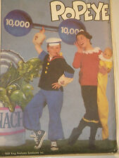 Popeye Olive Oyl Swee'Pea Costume Sewing Pattern Simplicity 8831 Child Sz 10 12