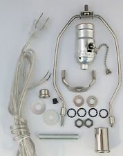 """silver lamp kits- off/on pull-chain, 7"""" harp, neck TD-397PC"""