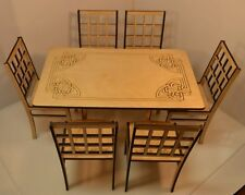 Christmas sale! Table for Dolls + 6 chairs for Dolls 1/6  furniture FR