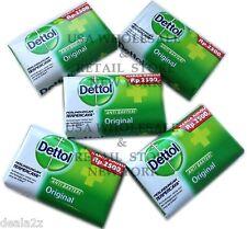 5 x Five Bars Dettol Soap 105g  each Original Anti Bacterial Pimple Acne Pimple