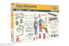Italeri 0720 1/24 Scale Model Kit Truck Accessories, Decal, Figures Parts