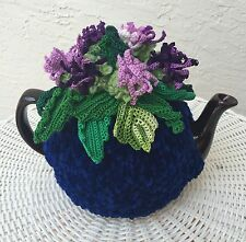 Handmade Tea Cozy Purple Mountain Thistles Of Scotland From Ukrainian Designer