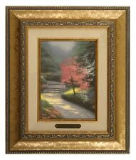 Thomas Kinkade Afternoon Light, Dogwood - Brushwork (Gold Frame)