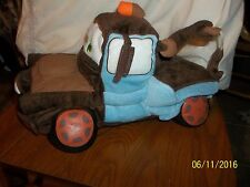 Disney CARS Plush TOW MATER PILLOW PJ Pouch With Sounds