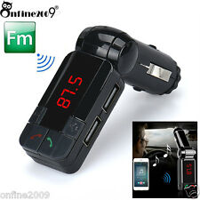 Wireless Bluetooth Handsfree FM Transmitter Car Kit MP3 USB Charger 8.7Universal