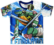 TEENAGE MUTANT NINJA TURTLES LEONARDO boys vibrant t-shirt Sz 4 Age4-5y FreeShip