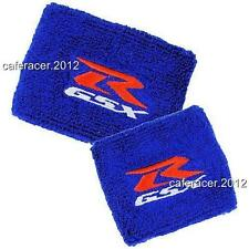 SUZUKI GSXR RESERVOIR SOCKS BRAKE/CLUTCH FLUID TANK CUP COVER 600 750 1000 BLUE