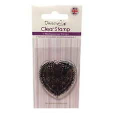 DOILY HEART - DOVECRAFT EVERYDAY COLLECTION - MINI PHOTOPOLYMER CLEAR STAMP