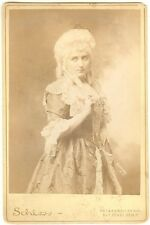 *GREAT AUSTRALIAN SOPRANO DAME NELLIE MELBA RARE 1899 COSTUME CABINET PHOTO*
