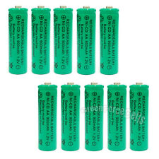 10x AA 900mAh Ni-Cd NICD Ni-Cad 1.2V rechargeable battery cell/RC Green US Stock