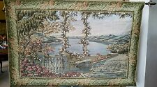 """Elegant Villa Patio View Tapestry Wall Hanging 35""""x53"""" w Rods"""