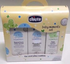 Set Baby Moments Chicco Bagnoschiuma Shampoo Senza Lacrime e Pasta Lenitiva