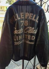 Pelle Pelle Men's Soda Club Leather Bomber Jacket SZ 58
