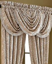 J Queen New York BELLAGIO Valance Waterfall Style Gold Pearl Ivory  NEW 1Q