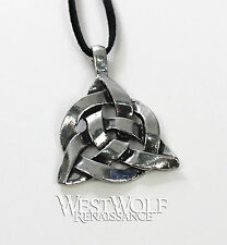 Celtic Triquetra Knot Pendant -- Irish/Norse/Viking/Medieval/Silver/Jewelry