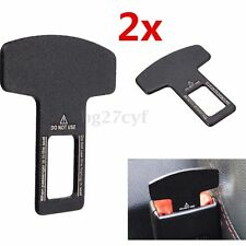 2pcs Universal Car Safety Seat Belt Buckle Alarm Stopper Canceller Clamp Clip