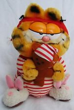 Vintage Collectible Garfield the Cat & Pooky Plush Stuffed Animal Pajamas Sleepy
