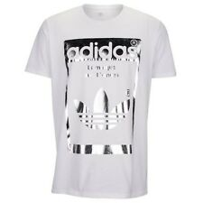 Adidas Originals Superstar OG White Silver T-shirt Men's Sz L Large Graphic Tee
