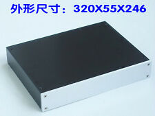 NEW Aluminum Case chassis blank for power amplifier preamp DAC 320x55x246mm