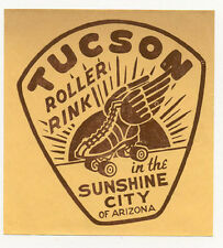 WWII 1940's era TUCSON ARIZONA ROLLER RINK IN THE SUNSHINE CITY SKATE LABEL L21