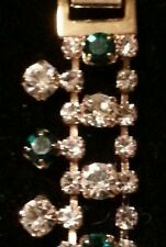 JACKIE KENNEDY Gold Tone Rhinestone Bracelet From The JBK Collection