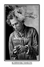 KEITH RICHARDS - LARGE SIGNED POSTER SIZE PHOTO PRINT - ROLLING STONES BAND