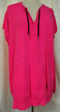 Ralph Lauren Active LRL Tunic Top 1X Generously Sized 100% Cotton Bright Pink